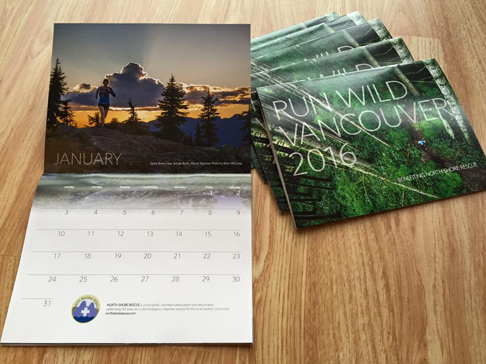 Vancouver Trail Running Calendars