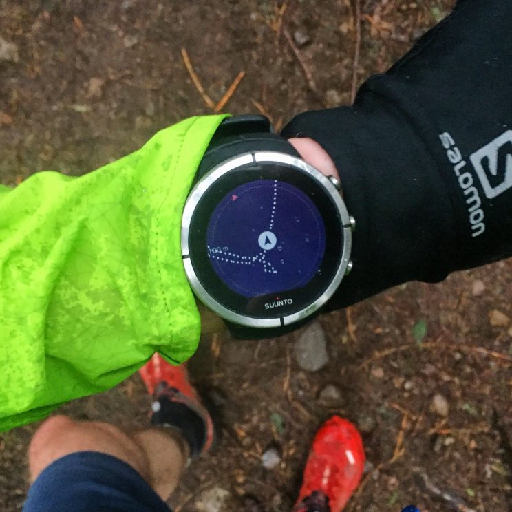 Following a route on my Suunto GPS watch