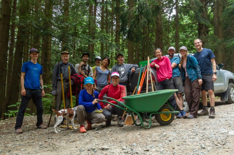 Trail Building with Run Wild Vancouver and NSMBA